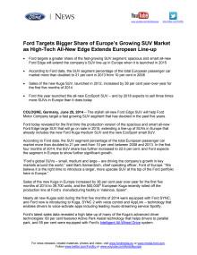 Ford afslører ny, stor suv til Europa