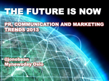 Jonathan Bean - Marketing and PR trends