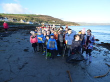 Glenarm school kids take part in a 'Very Merry' Christmas clean-up