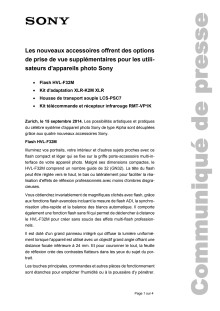 Communication de Presse_Sony accessories_F-CH_140915
