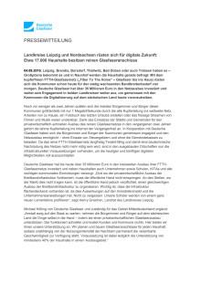 Landkreise Leipzig und Nordsachsen rüsten sich für digitale Zukunft: Etwa 17.000 Haushalte besitzen reinen Glasfaseranschluss