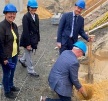 Millionenprojekt Wasserwerk Boxberg: Symbolischer Spatenstich durch Sachsens Ministerpräsidenten Michael Kretschmer