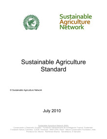 SAN Sustaiable Agriculture Standard