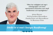 Johan Ekman - Därför är vi med i Sveriges Bussföretag!