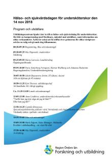 Undersköterskedagen - program och utställare