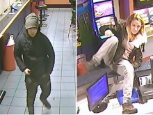 Do you recognise this pair wanted in connection with an Eastbourne robbery?