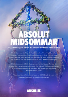 ABSOLUT MIDSOMMAR – 10 goldene Regeln, wie Du die kürzeste Nacht des Jahres feierst!