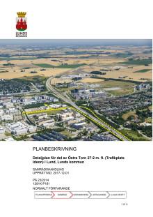Planbeskrivning av Trafikplats Ideon