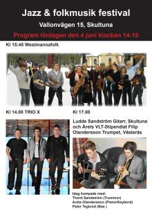 Program för Skultunas Jazz- och folkmusikfestival 4 juni 2011