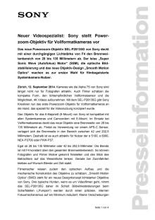 Medienmitteilung_Objektiv SEL-P28135G_D-CH_140912