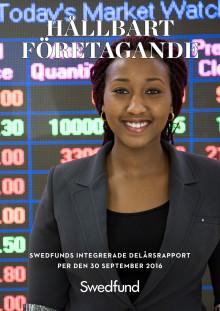 Swedfunds integrerade delårsrapport juli - september 2016