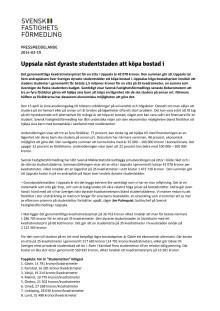 Uppsala näst dyraste studentstaden att köpa bostad i