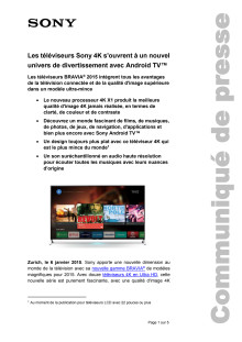 Communiaction de presse_CES 2015_BRAVIA Line-up_F-CH_150106