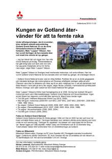 Kungen av Gotland återvänder för att ta femte raka