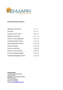 Pressemappe Fehmarn