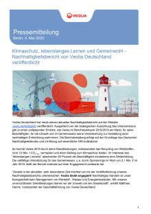Klimaschutz, lebenslanges Lernen und Gemeinwohl - Nachhaltigkeitsbericht von Veolia Deutschland veröffentlicht