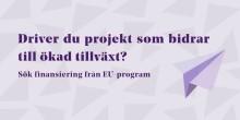 Sju möjligheter att söka EU-finansiering i hela Sverige