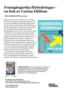 Carina Ekblom Framgångsrika Förändringar pressinfo