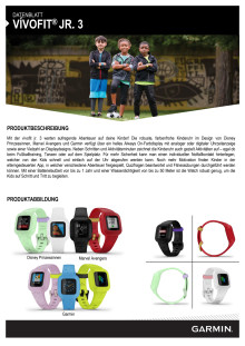 Datenblatt Garmin vívofit jr. 3