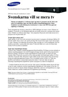 Svenskarna vill se mera tv