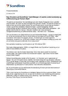 Nye thrustere på Scandlines' hybridfærger vil sænke undervandsstøj og luftforurening på Femern Bælt