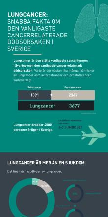 Lungancer: Snabba fakta om den vanligaste cancerrelaterade dödsorsaken i Sverige
