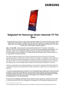 Salgsstart for Samsungs første roterende TV The Sero