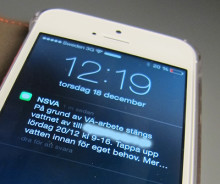 NSVA testar driftinformation via SMS