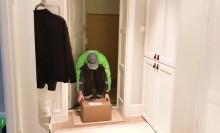 Bring öppnar dörren med Glue när kunden inte är hemma