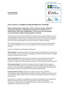 De är vinnarna i Intelligent Energy Management Challenge