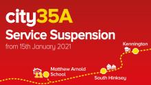 Suspension of the city35A School Bus Service