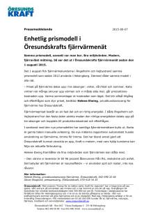 Enhetlig prismodell i Öresundskrafts fjärrvärmenät