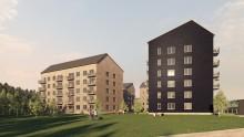 Skellefteås nya bostadsområde Västra Erikslid växer fram