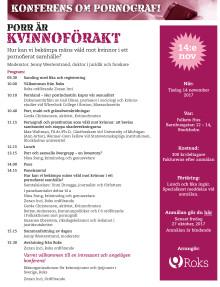Porr är kvinnoförakt - konferens 14 november