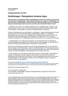 Värdebarometern Q1-2017 Östergötlands Län