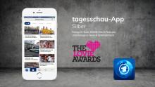 Appsfactory mit der tagesschau-App als Silver Winner bei den Lovie Awards 2018 ausgezeichnet