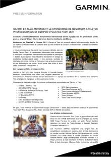 CP Garmin Pro Cycling Pro Athletes Sponsoring 2021