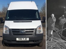 Police investigating theft of vans from yard