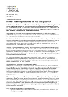 Trendrapporten 2014: Hemkära hallänningar drömmer om villa nära sjö och hav