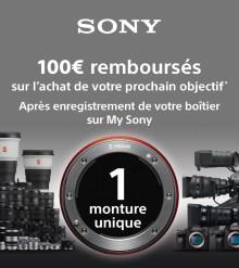 Bon plan Sony 100 € remboursés sur l'achat d'une optique
