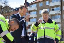 Inrikesminister Anders Ygeman drack nödvatten i Landskrona