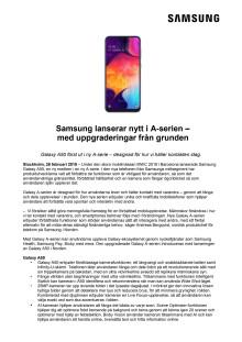 Samsung lanserar nytt i A-serien –  med uppgraderingar från grunden