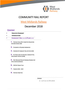 Community Rail Report - West Midlands Railway