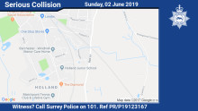 Appeal for witnesses following collision in Oxted