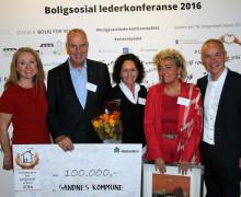 Sandnes kommune hedret med pris for boligsosialt arbeid