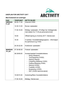 Program Arctivity