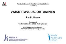 Paul Lillrank: Vaikuttavuusjohtaminen