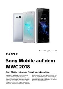 Sony Mobile auf dem MWC 2018
