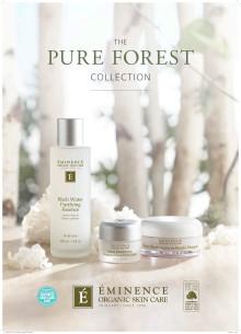 Éminence Organics Pure Forest Collection 2019 A4 Skylt