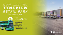 Go North East to serve Tyneview Retail Park in Prudhoe from 2 January